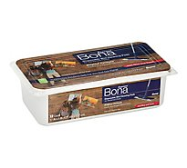 Bona Floor Cleaner Wet Pads For Hardwood Floors Disposable Tub - 12 Count