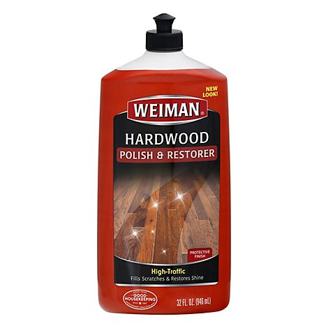 Weiman Polish & Restorer Hardwood Floor High Traffic Bottle - 32 Fl. Oz.
