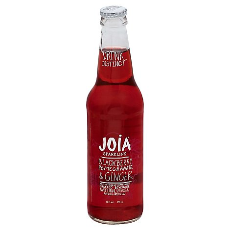 JOIA Beverage Sparkling Blackberry Pomegranate & Ginger Bottle - 12 Fl. Oz.
