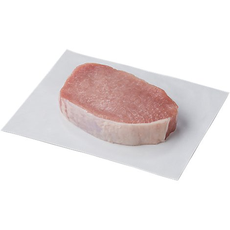 Meat Service Counter Pork Top Loin Chop Boneless Americas Cut - 1 LB
