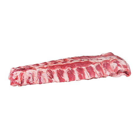 Meat Service Counter Pork Loin Backrib Bone In - 2.50 LB