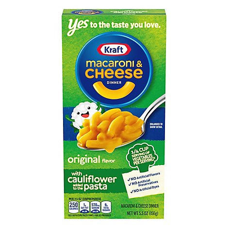 Kraft Macaroni & Cheese Dinner With Cauliflower Original Box - 5.5 Oz