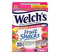 Welchs Fruit Snacks Fruit Punch And Berries N Cherries Fat Free Value Pack - 22-0.9 Oz