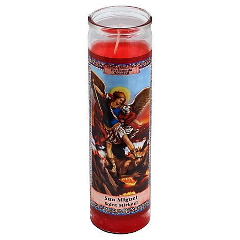 Eternalux Candle Red Saint Michael Jar - Each