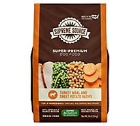 Supreme Source Dog Food Grain Free Turkey Meal And Sweet Potato Bag - 5 Lb