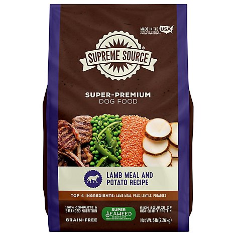 Supreme Source Dog Biscuits Grain Free Lamb Meal And Sweet Potato Bag - 5 Lb