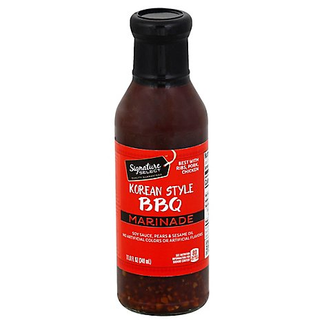 Signature SELECT Marinade Korean Style Bbq Bottle - 11.8 Fl. Oz.