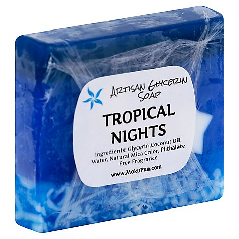 Moku Pua Bar Soap Artisan Glycerin Tropical Nights Wrapper - Each
