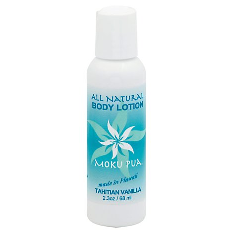Moku Pua Body Lotion All Natural Tahitian Vanilla Bottle - 2.3 Oz