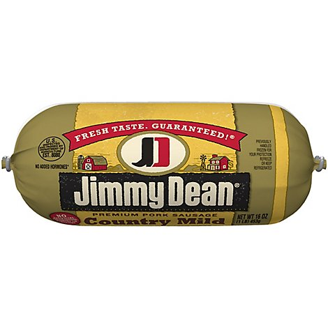 Jimmy Dean Premium Pork Country Mild Sausage Roll - 16 Oz