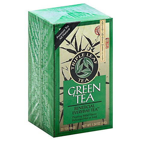 Triple Leaf Tea Green Tea Box - 20 Count