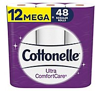 Cottonelle Ultra ComfortCare Bathroom Tissue Mega Roll 2 Ply - 12 Roll