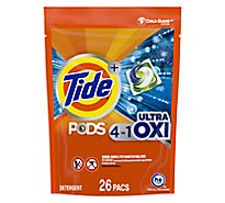 Tide Plus PODS Detergent Pacs 4In1 Ultra Oxi - 26 Count