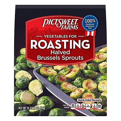 Pictsweet Farms Vegetables For Roasting Brussel Sprouts Halved - 16 Oz