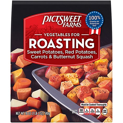 Pictsweet Farms Vegetables For Roasting Sweet Potatoes Red Potatoes Carrots & Parsnips - 18 Oz