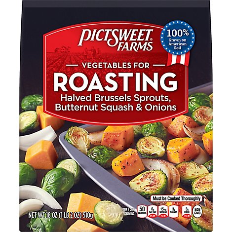 Pictsweet Farms Vegetables For Roasting Brussel Sprouts Butternut Squash & Onions - 18 Oz