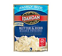 Idahoan Mashed Potatoes Butter & Herb Family Size - 8 Oz