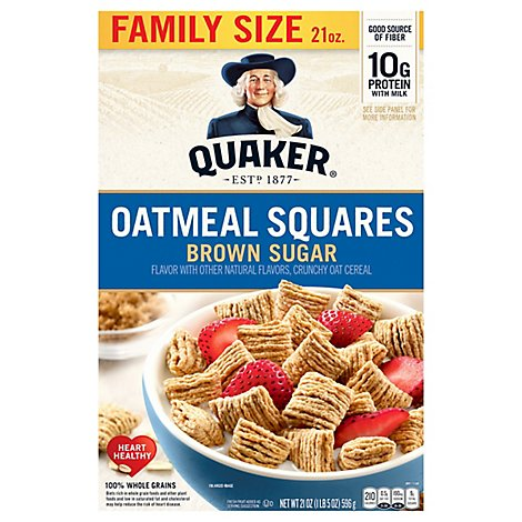 Quaker Oatmeal Squares Box - 21 Oz
