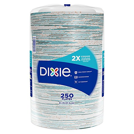 Dixie Everyday Paper Plates Printed 8 1/2 Inch - 250 Count
