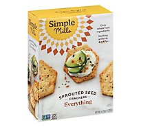 Simple Mills Crackers Sprouted Seed Everything Box - 4.25 Oz