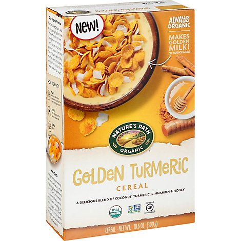 Natures Path Organic Cereal Turmeric Flakes - 10.6 Oz