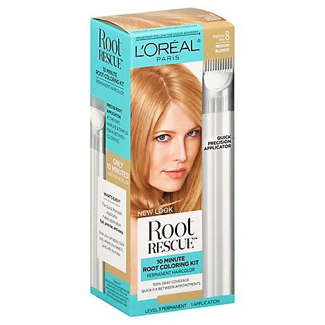 LOreal Root Rescue Permanent Hair Color Level 3 Medium Blonde 9 Box - Each