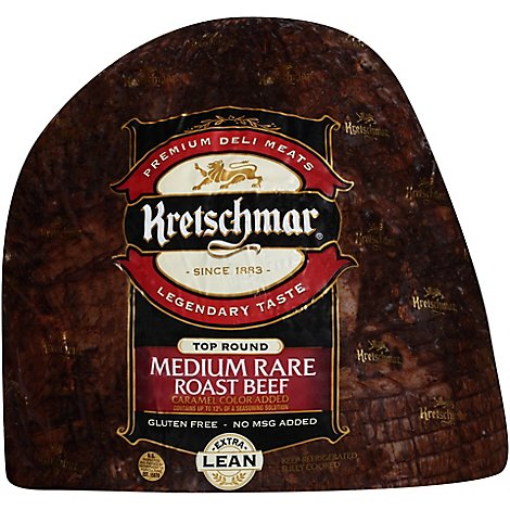 Kretschmar Medium Rare Roast Beef - 0.50 Lb
