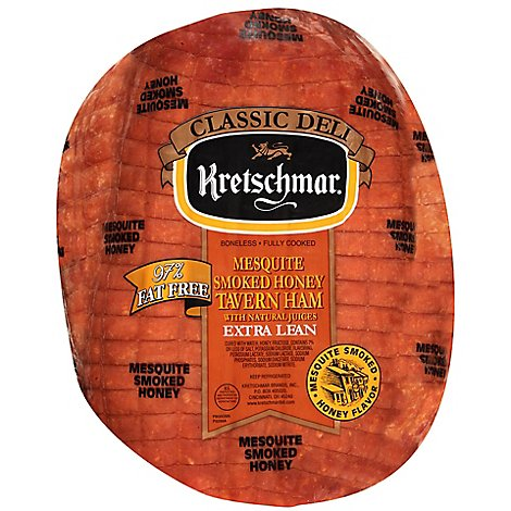 Kretschmar Mesquite Smoked Honey Tavern Ham - 0.50 Lb