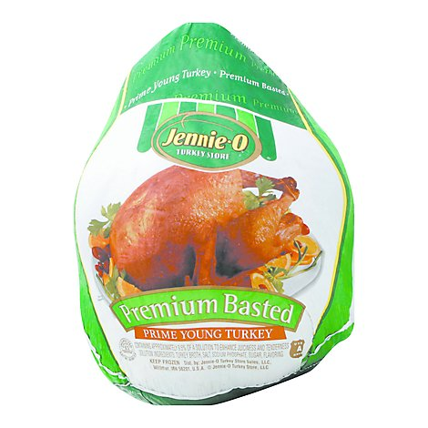 Jennie-O Turkey Store Whole Turkey Broth Basted Frozen - Weight Between 16-20 Lb