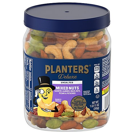 Planters Unsalted Premium Blend Nuts - 27 Oz