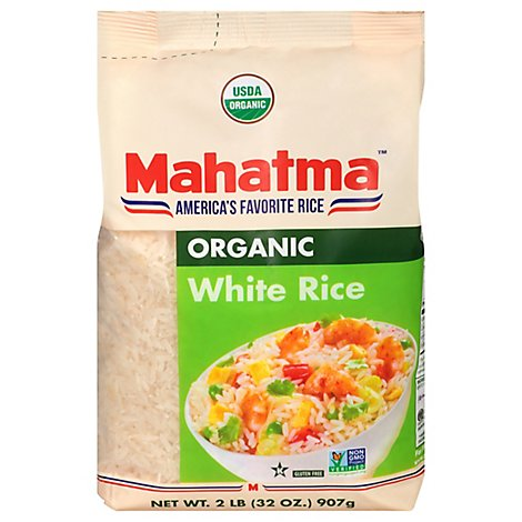 Mahatma Organic Rice White Bag - 2 Lb
