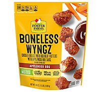 Foster Farms Chicken Wings Boneless BBQ Fully Cooked No Antibiotics Ever - 24 Oz