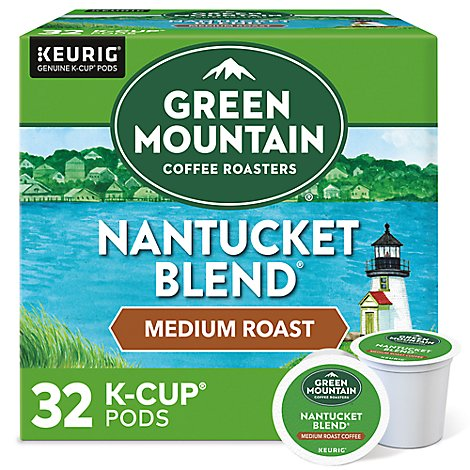Green Mountain Coffee K Cup Pods Medium Roast Nantucket Blend - 32-0.33 Oz