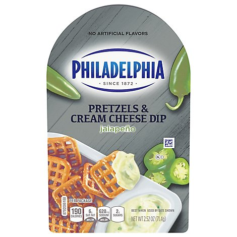 Philadelphia Pretzels & Cream Cheese Dip Jalapeno Tray - 2.52 Oz