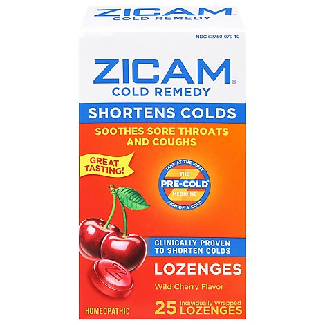 Zicam Cold Remedy Lozenges Wild Cherry Flavor - 25 Count