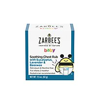 Zarbees Naturals Baby Chest Rub Soothing With Eucalyptus Lavender & Beeswax - 1.5 Oz