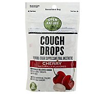 Open Nature Cough Drops Cough Suppresant Oral Anesthetic Menthol Cherry - 30 Count