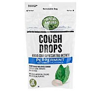 Open Nature Cough Drops Cough Suppresant Oral Anesthetic Menthol Peppermint - 30 Count