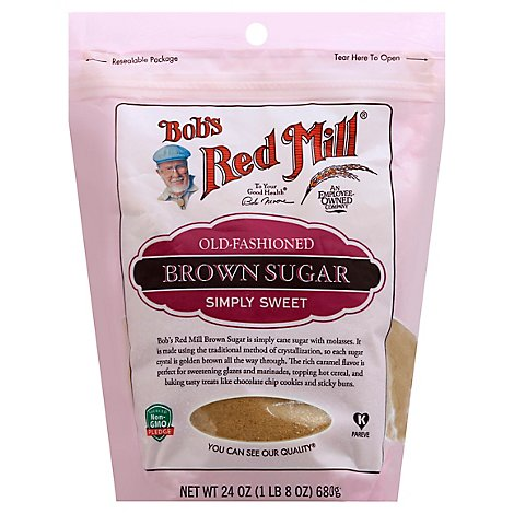 Bobs Red Mill Old Fashioned Sugar Dark Brown - 24 Oz