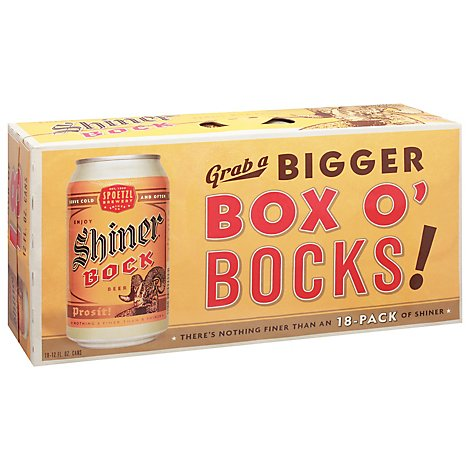 Shiner Bock In Cans - 18-12 Fl. Oz.
