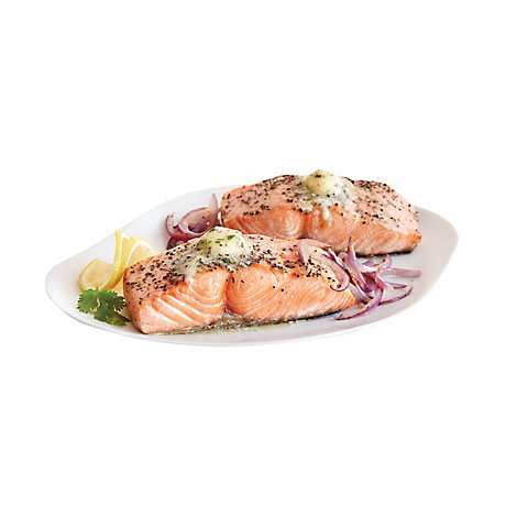 Seafood Counter Fish Take & Bake Salmon With Garlic Butter & Lemon Pepper - 0.75 LB