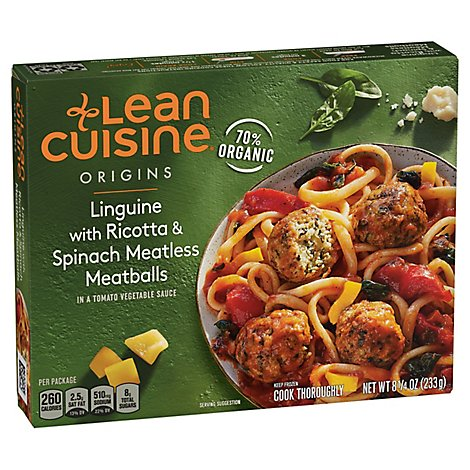 Lean Cuisine Organic Linguini Meatless Meatballs Box - 8.25 Oz