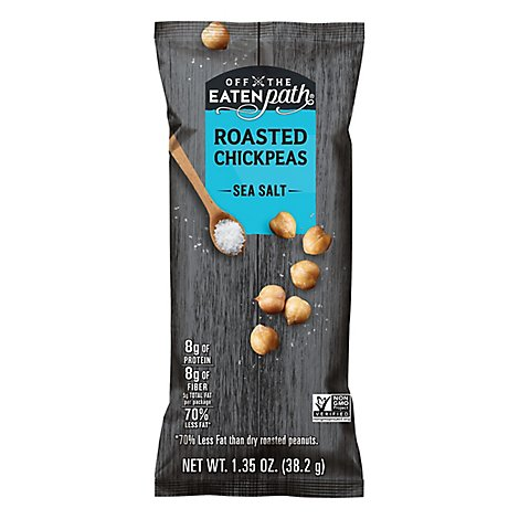 Off The Eaten Path Roasted Chickpeas Sea Salt Plastic Bag - 1.35 Oz