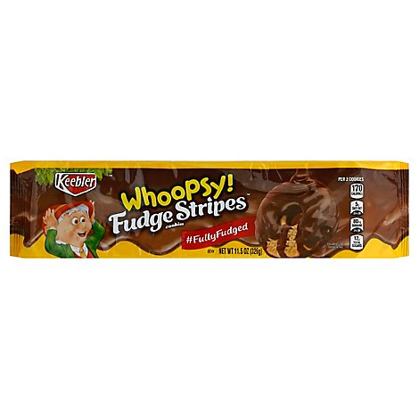 Keebler Whoopsy Fudge Stripes Cookies Fully Fudged - 11.5 Oz