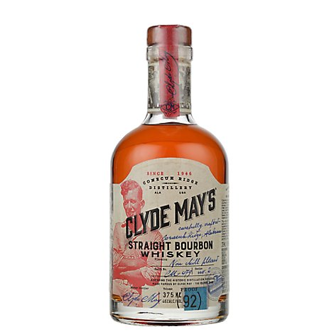 Clyde Mays Bourbon Whiskey 92 Proof - 375 Ml