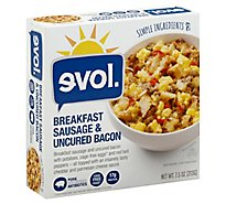 Evol Bowl Breakfast Sausage & Uncured Bacon - 7.5 Oz