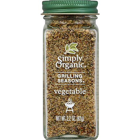 Simply Organic Seasoning Veggie Grilling - 2.2 Oz