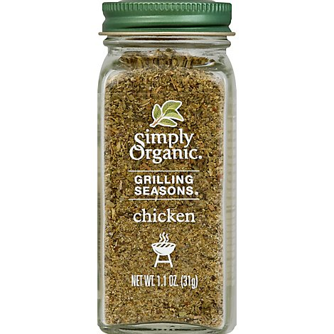 Simply Organic Sesoning Chicken Grilling - 1.1 Oz