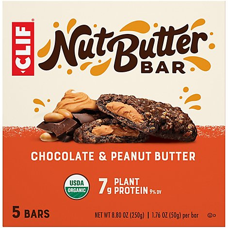 Clif Nbf Chocolate Peanut Butter - 5-1.76 Oz