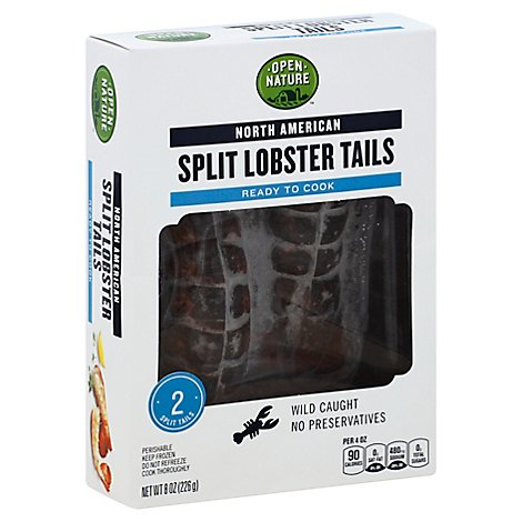 Open Nature Lobster Tail Split North American 2 Count - 8 Oz